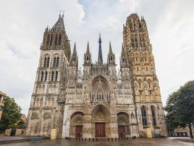 Cathedral of Rouen, France. The cathedral of Rouen in France stock images