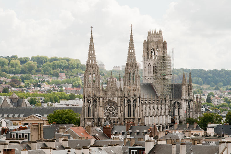 Cathedral in Rouen, France. One of the cathedrals in Rouen, France stock photos