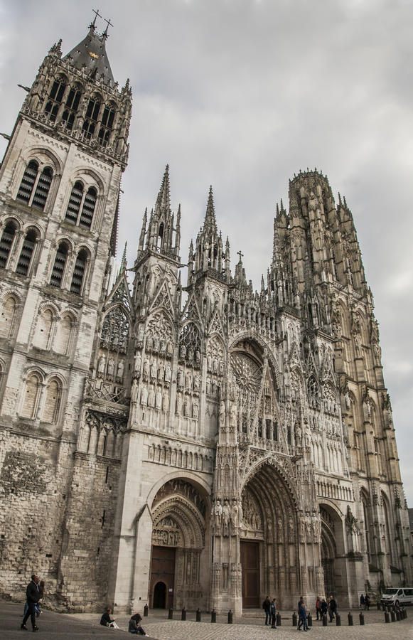 The cathedral in Rouen, Normandy, France, Europe. stock photos