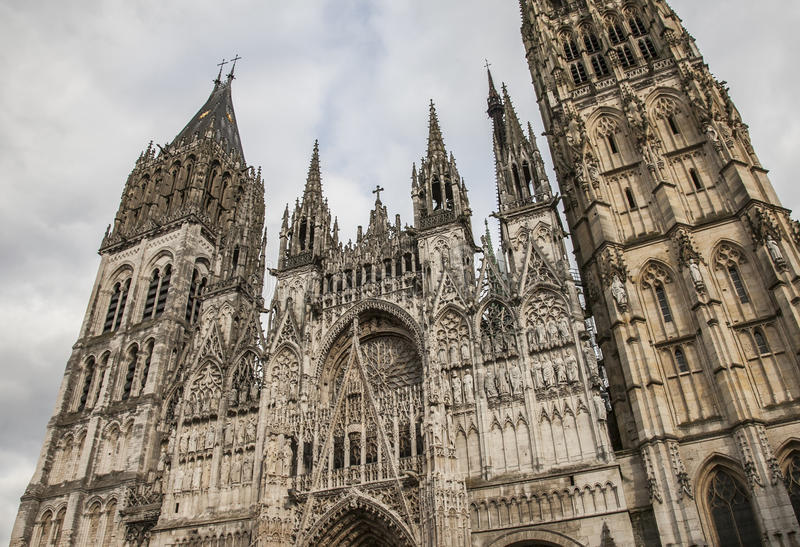 The cathedral in Rouen, Normandy, France. stock image