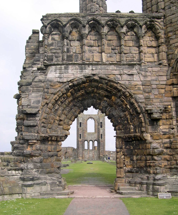 Cathedral Ruins St. Andrews UK stock images