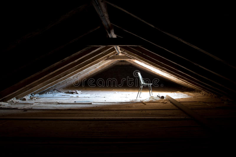 Cathedral,s attic royalty free stock photo