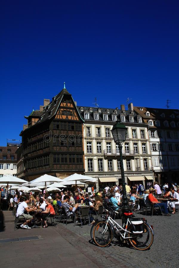 Download Cathedral's Place In Strasbourg Editorial Photo - Image of half, alsace: 26938501