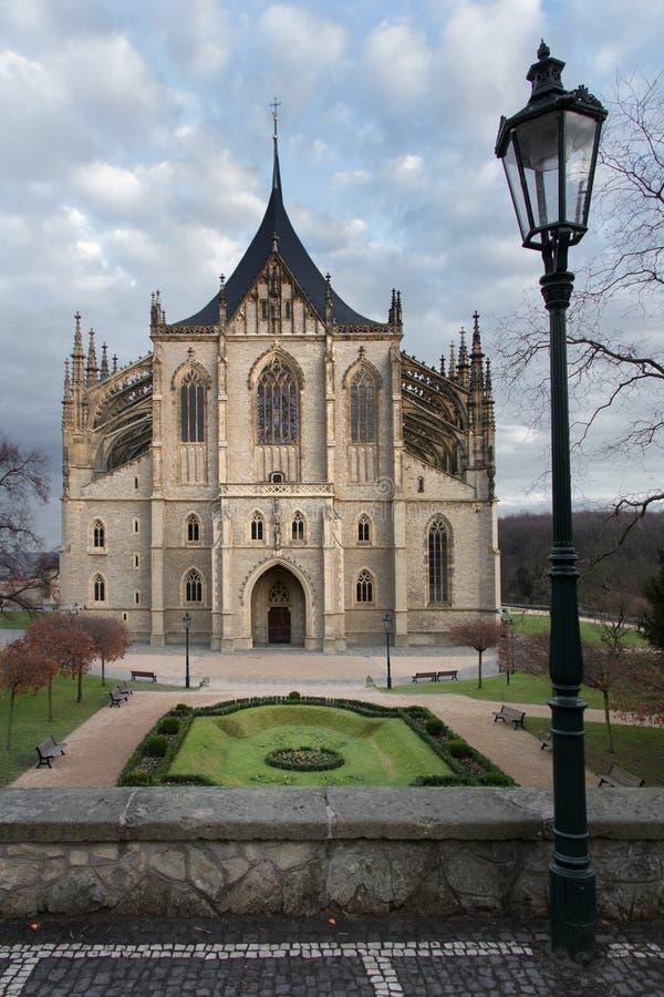 Cathedral of Saint Barbara stock photo