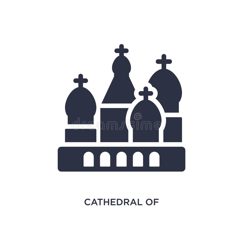 Cathedral of saint basil icon on white background. Simple element illustration from buildings concept. Cathedral of saint basil icon. Simple element illustration vector illustration