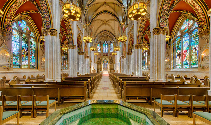 The Cathedral Of Saint Helena Stock Image Image Of