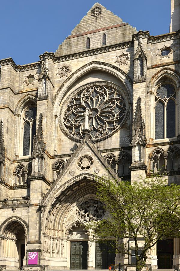 Cathedral of Saint John Divine 1892, cathedral of Episcopal Diocese of New York City, located at 1047 Amsterdam Avenue in Manhat stock photos