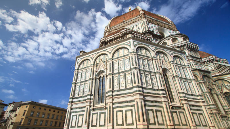 Cathedral of Saint Mary of the Flowers, a popular tourist destination of Europe, Florence, Italy stock photo