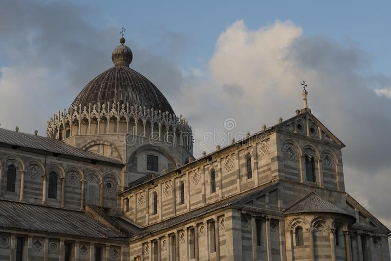 Cathedral of saint Mary in the square of miracles in the city of Pisa stock image