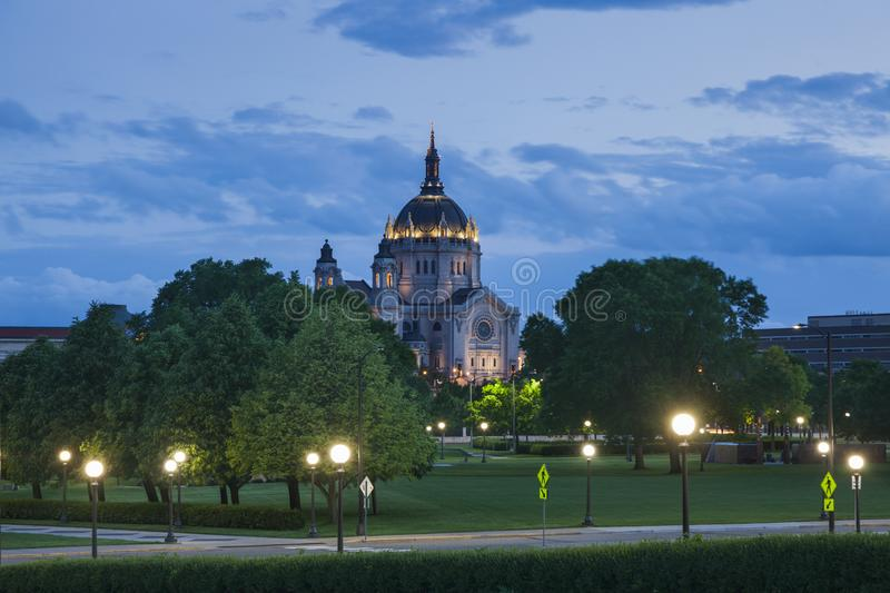 Cathedral of Saint Paul. In Minnesota in the USA. St. Paul, Minnesota, USA stock images