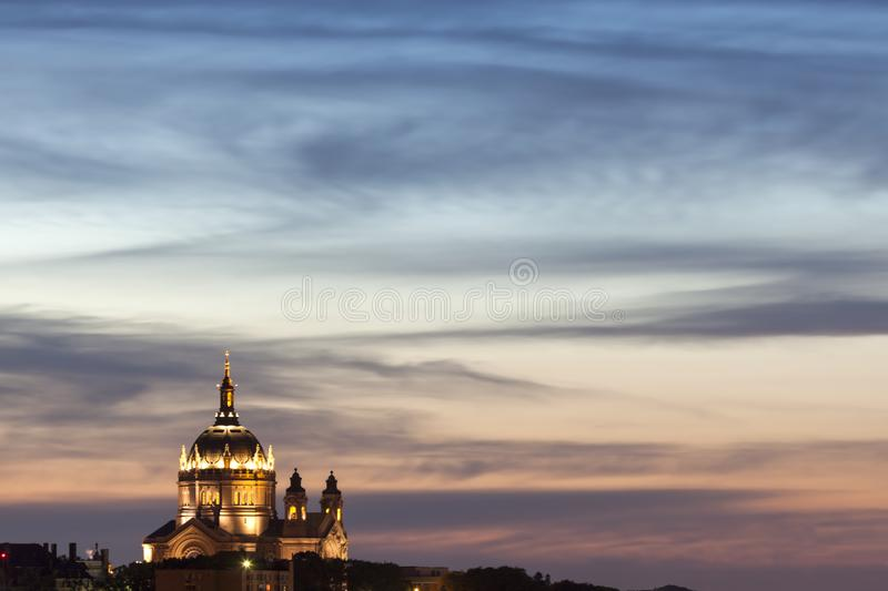 Cathedral of Saint Paul. In the USA. St. Paul, Minnesota, USA royalty free stock photos