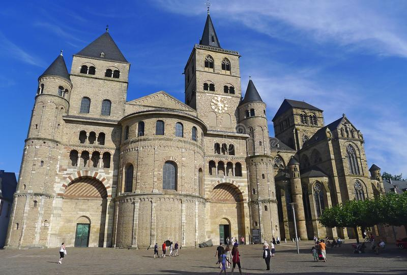 The Cathedral of Saint Peter in Trier, Germany stock photo