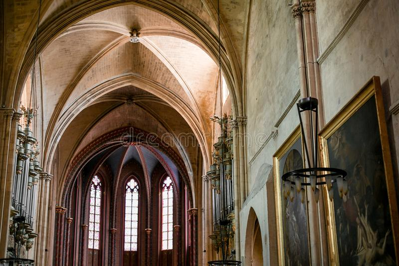 Cathedral Saint-Saver in Aix-en-Provence France royalty free stock photos