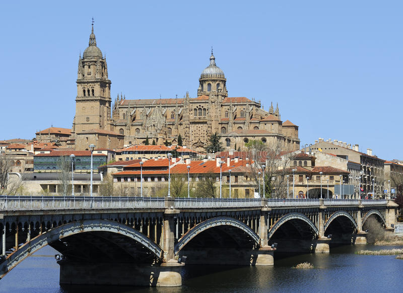 Cathedral of Salamanca royalty free stock images