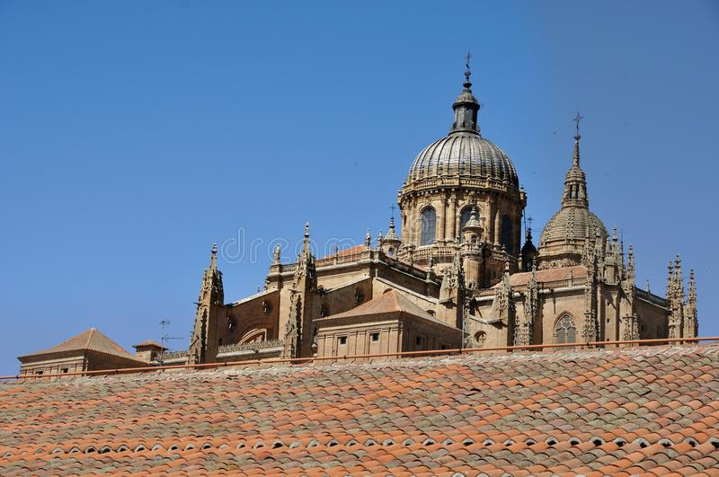 Cathedral Of Salamanca And Las Duenas Convent Stock Photography