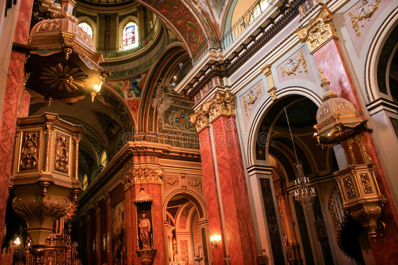 Cathedral of Salta. Interior of the Cathedral of Salta, in the North of Argentina stock photos