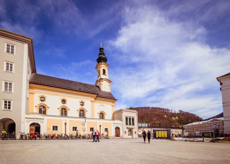 Salzburg Cathedral Dom zu Salzburg in spring, Austria royalty free stock photography