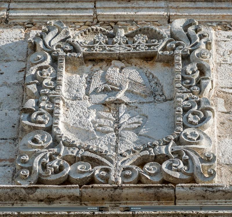 The Cathedral of San Gervasio Detail stock images