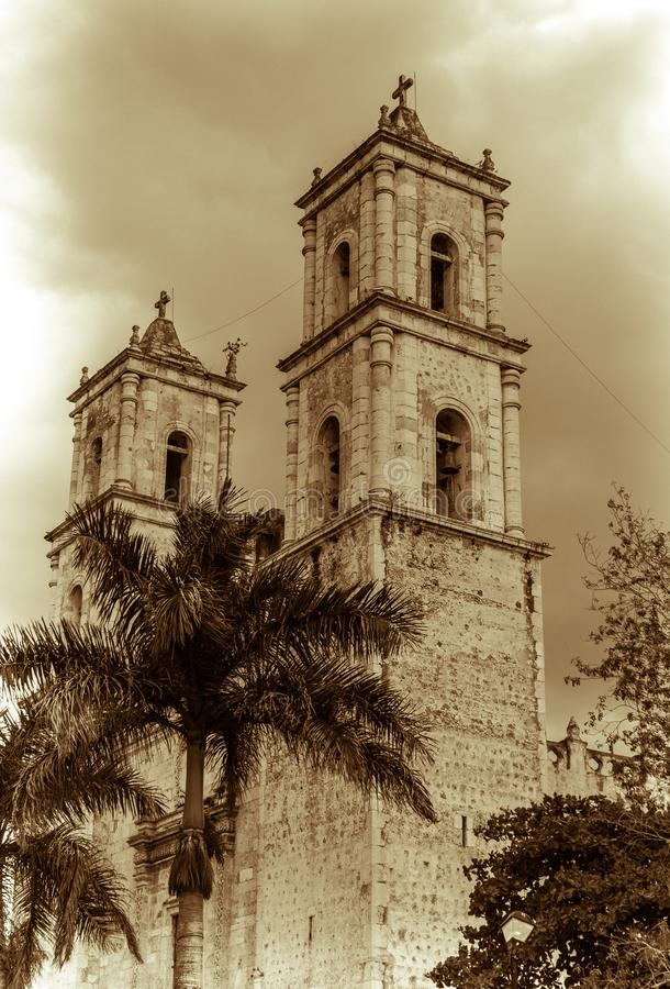 The Cathedral of San Gervasio stock image