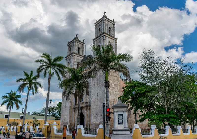 The Cathedral of San Gervasio royalty free stock photography