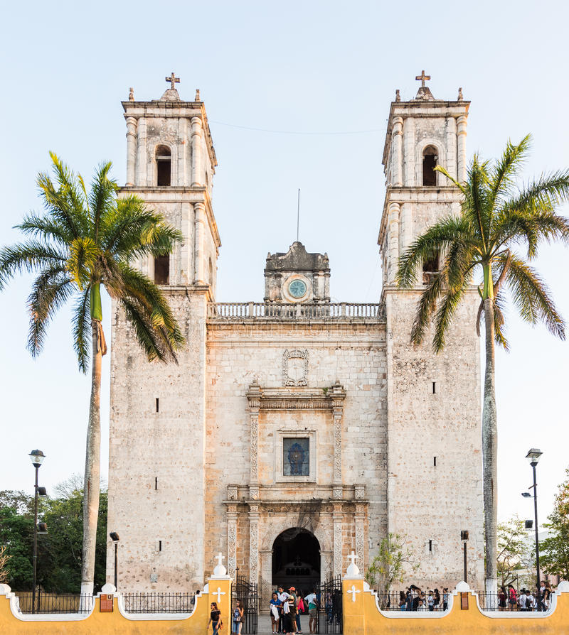 Cathedral of San Gervasio in Valladolid, Yucatan, Mexico stock image