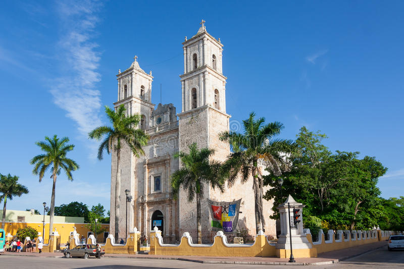 Cathedral of San Ildefonso Merida capital of Yucatan Mexico. Cathedral of San Ildefonso in the central square Merida capital of Yucatan Mexico royalty free stock photography
