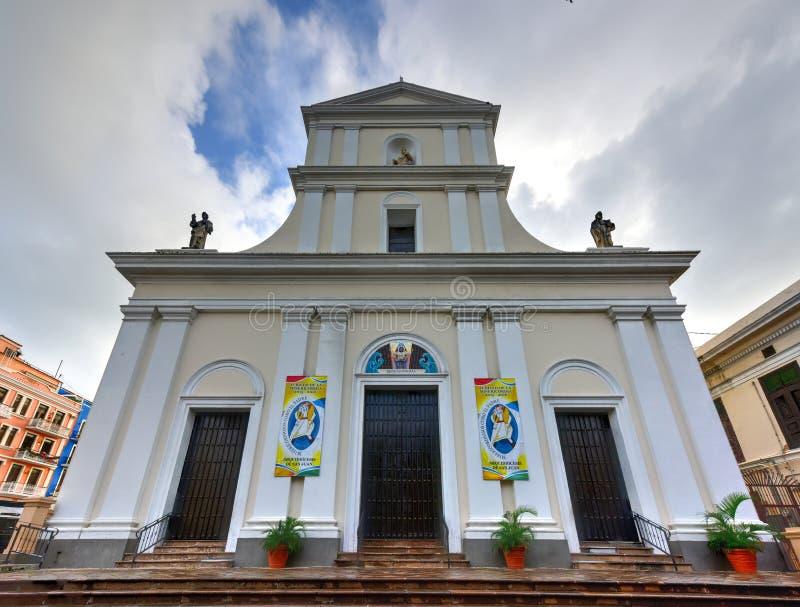 Cathedral of San Juan Bautista - San Juan, Puerto Rico stock photos