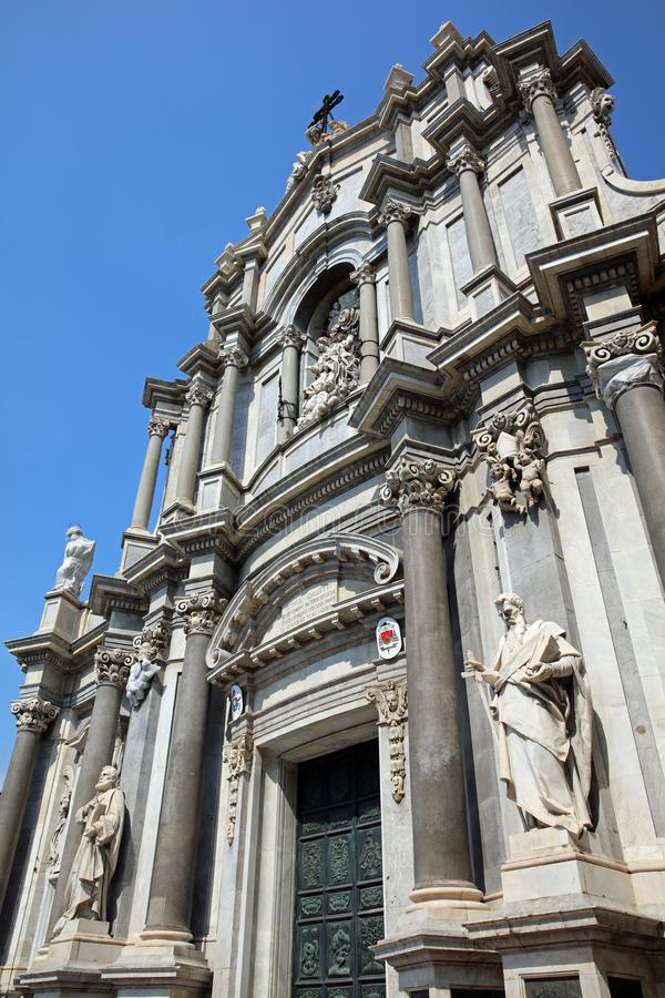 Cathedral of Santa Agatha in Catania. Sicily. Italy. Europe stock photos