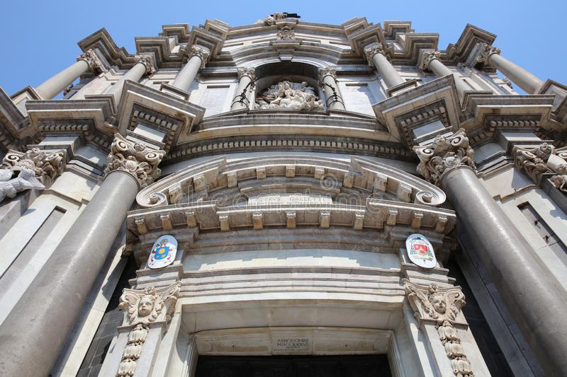 Cathedral of Santa Agatha in Catania. Sicily. Italy. Europe royalty free stock photos