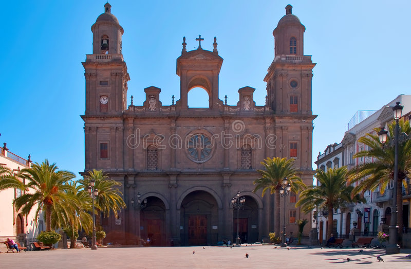 Cathedral Santa Ana in Las Pal. The old cathedral Santa Ana in Vegueta in the capital of Gran Canaria, Las Palmas royalty free stock image