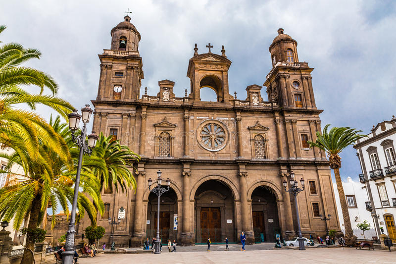 Cathedral of Santa Ana - Las Palmas, Gran Canaria. Canary Island, Spain, Europe royalty free stock images
