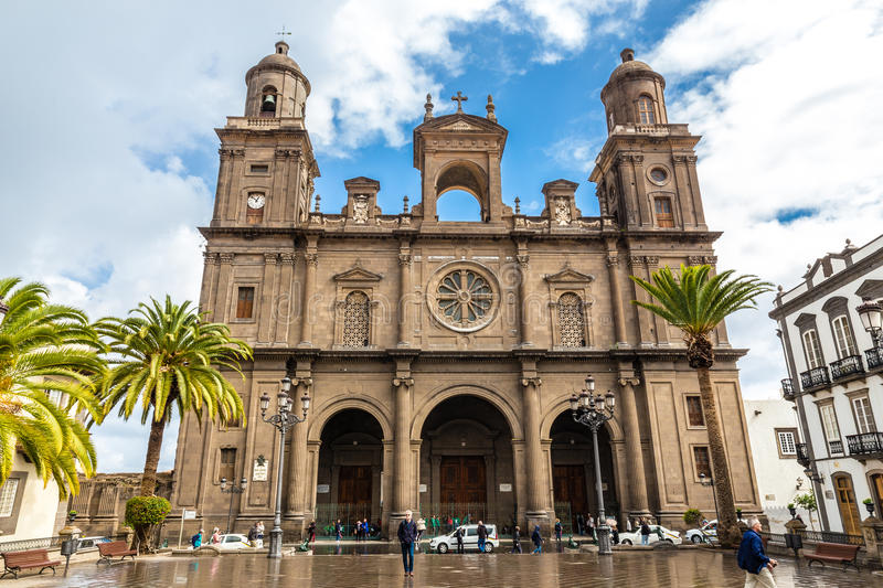 Cathedral of Santa Ana - Las Palmas, Gran Canaria. Canary Island, Spain, Europe stock image