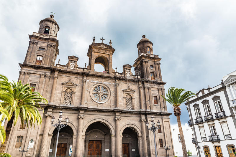 Cathedral of Santa Ana - Las Palmas, Gran Canaria. Canary Island, Spain, Europe royalty free stock image