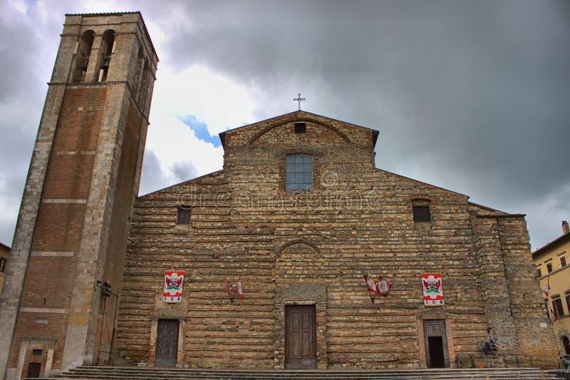 Cathedral of Santa Maria Assunta in Montepulciano. Tuscany, Italy - HDR stock photography