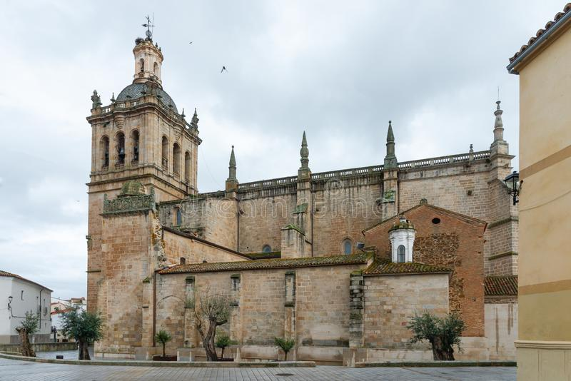 Cathedral of Santa Maria de la Asuncion in Coria, Caceres, Extremadura. Spain royalty free stock image