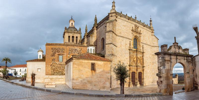 Cathedral of Santa Maria de la Asuncion in Coria, Caceres, Extremadura, Spain.  stock photography