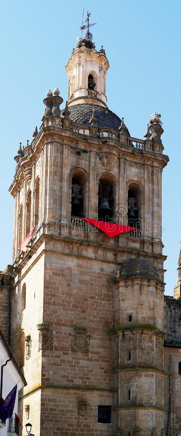 Cathedral of Santa Maria de la Asuncion, Coria, Extremadura, Spain. Europe royalty free stock image
