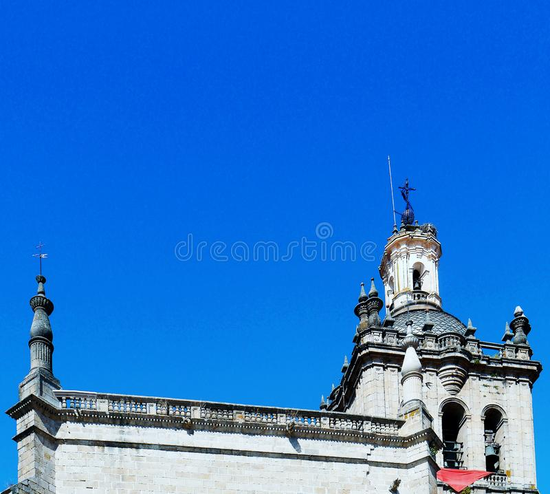 Cathedral of Santa Maria de la Asuncion, Coria, Extremadura, Spain. Europe stock image