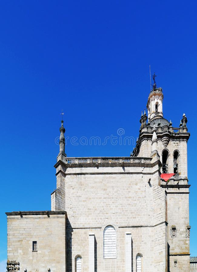 Cathedral of Santa Maria de la Asuncion, Coria, Extremadura, Spain. Europe stock photography