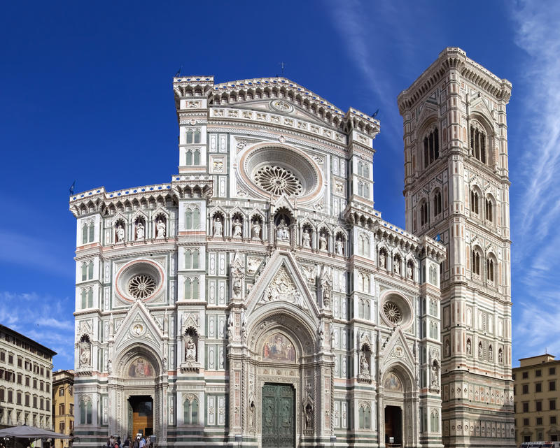 Cathedral of Santa Maria del Fiore, Florence - Italy stock images