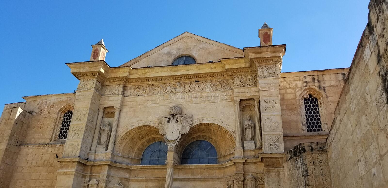 Cathedral of Santa Maria Santo Domingo royalty free stock photography