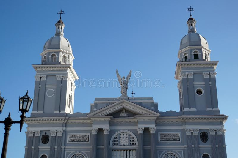 Cathedral in Santiago. View over the Cathedral in Santiago de Cuba royalty free stock image