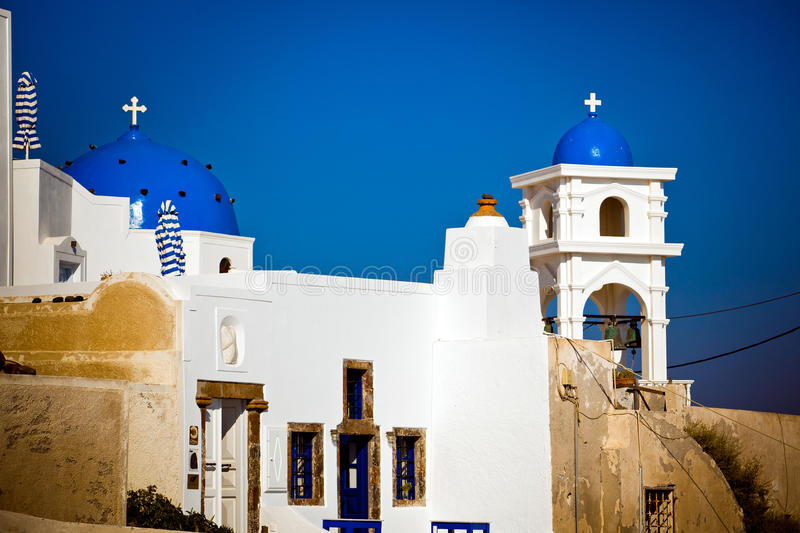 Cathedral on Santorini stock image