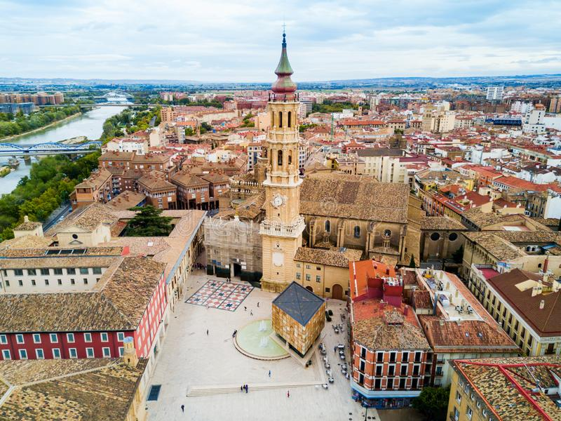 Cathedral of the Savior, Zaragoza. Cathedral of the Savior of Zaragoza or Catedral del Salvador is a Roman Catholic church in Zaragoza, Aragon region of Spain royalty free stock photography