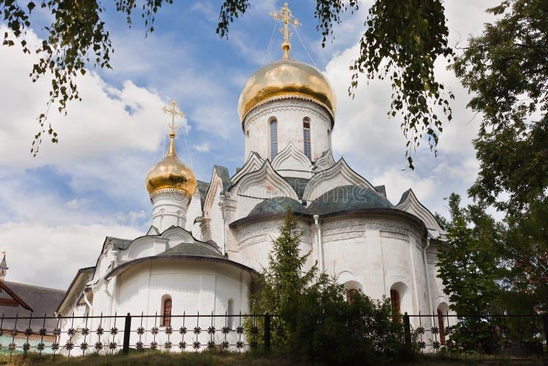 Cathedral in Savvino-Storozhevsky Monastery in Zvenigorod royalty free stock photo