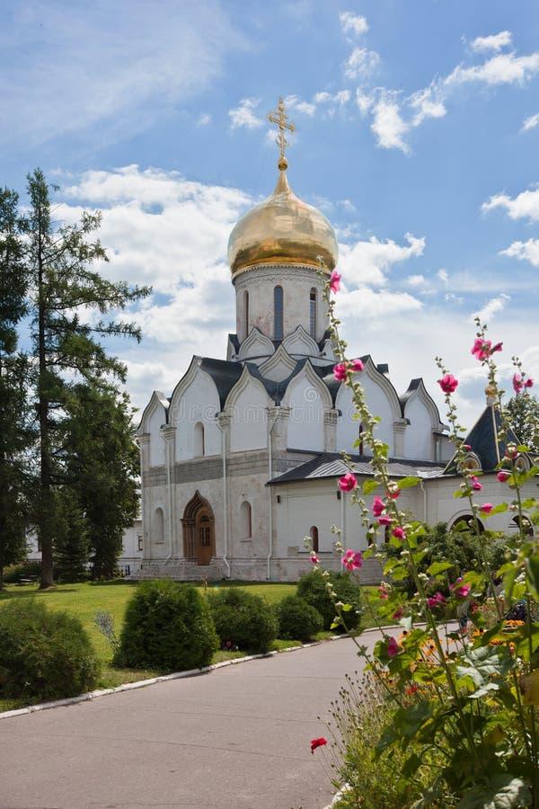 Cathedral in Savvino-Storozhevsky Monastery in Zvenigorod royalty free stock photography
