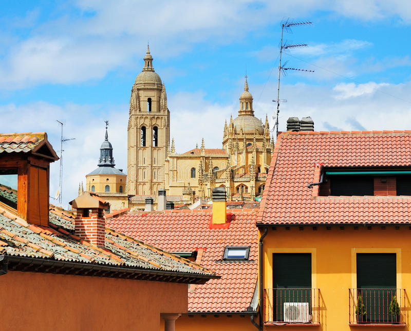 Cathedral of Segovia, Spain royalty free stock photography