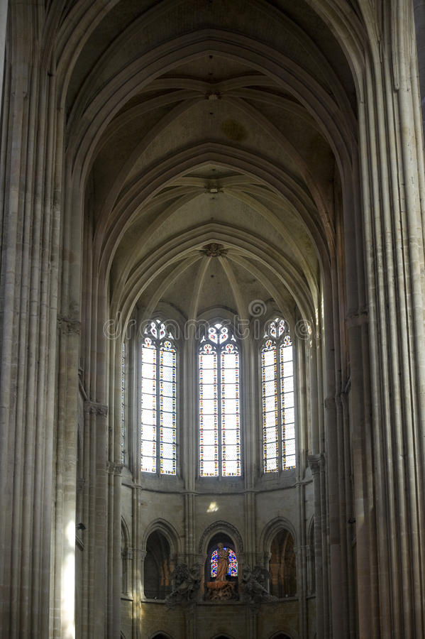 Download Cathedral Of Senlis, Interior Stock Image - Image: 27407177