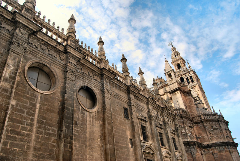 Cathedral of Sevilla royalty free stock image
