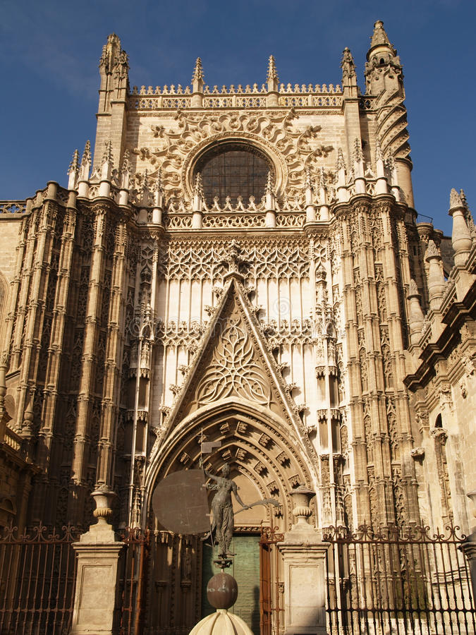 Download Cathedral Of Sevilla In Andalucia Stock Image - Image: 18885851